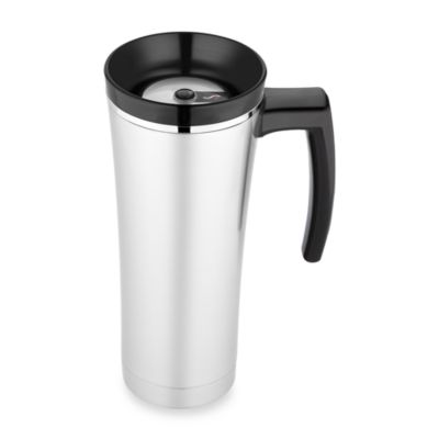 Thermos® Sipp™ Vacuum Insulated Travel Mug in Black