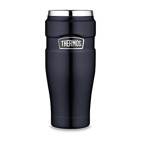 Thermos® 16 oz. Vacuum Insulated Stainless Steel Travel Tumbler in Blue