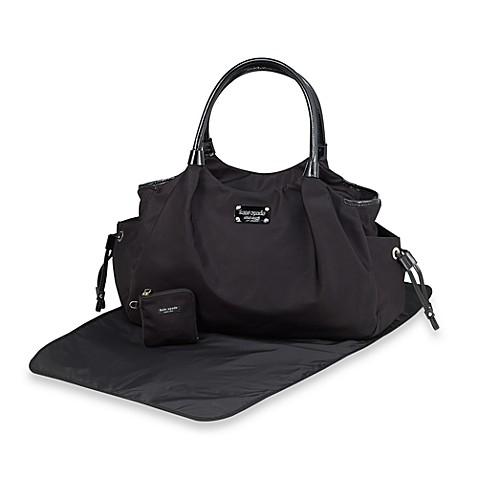 kate spade new york stevie black diaper bag buybuy baby. Black Bedroom Furniture Sets. Home Design Ideas