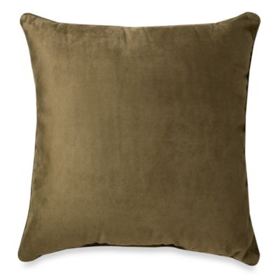 Sueded 20-Inch Toss Pillow in Leaf Green