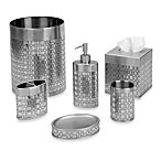 Avanti Basketweave Toothbrush Holder in Silver