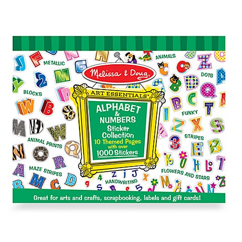 Melissa & Doug® Alphabet & Numbers Sticker Collection