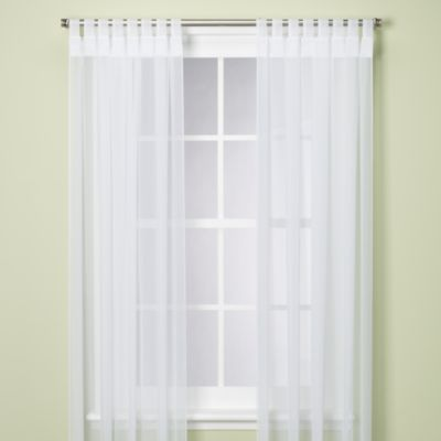 Commonwealth Home Fashions Escape Velcro® Tab Top Indoor/Outdoor 84-Inch Window Panel in White