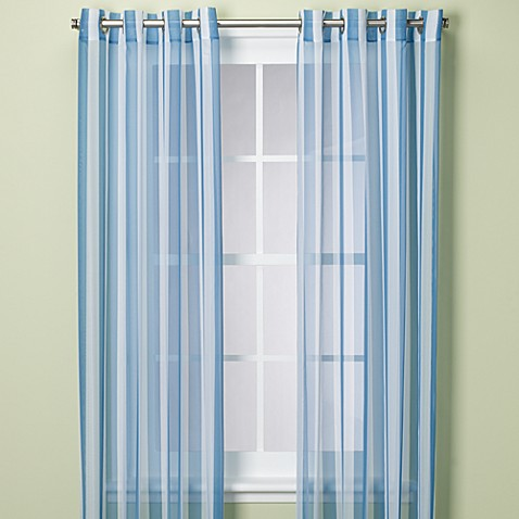 "Escape Stripe Grommet 84"" Window Panel"