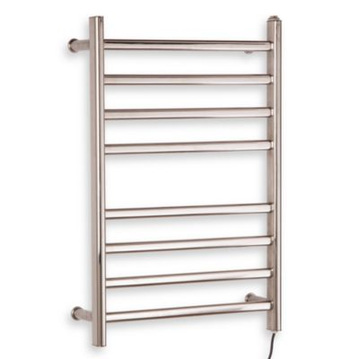 Myson Wall 8-Bar Towel Warmer in Stainless Steel Diamond