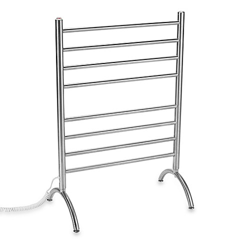 Myson Standing 8-Bar Towel Warmer in Stainless Steel