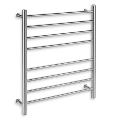 Myson Wall 8-Bar Towel Warmer in Bright Brushed Nickel