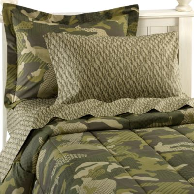Geo Camo Complete Twin Bed Ensemble