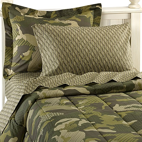 Geo Camo Complete Full Bed Ensemble