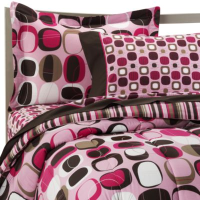 Opus Pink Queen Complete Bedding Ensemble