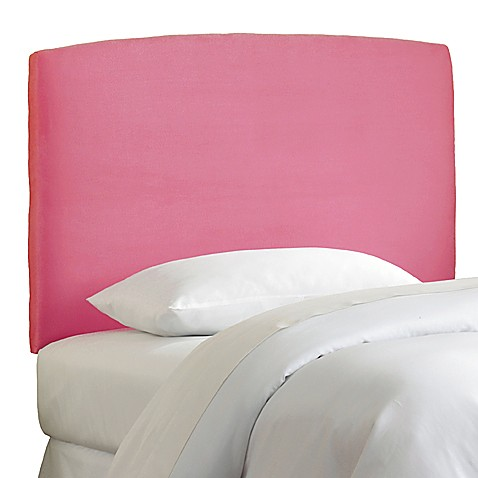 Skyline Curved Microsuede Headboard in Hot Pink