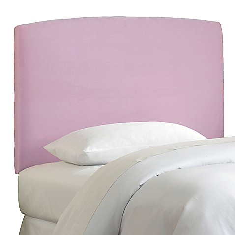 Skyline Curved Microsuede Headboard in Lilac