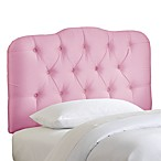 Skyline Tufted Shantung Headboard in Woodrose