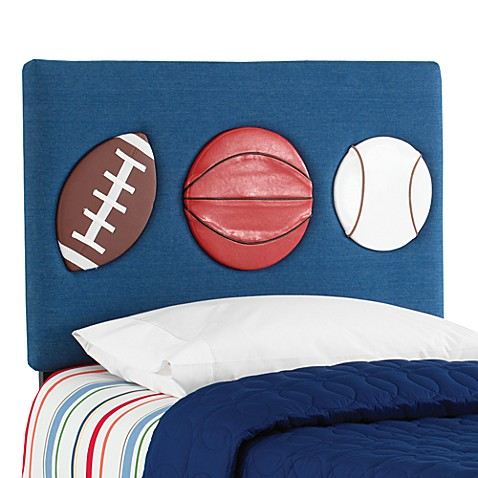 Skyline Three Sport Denim Twin Headboard