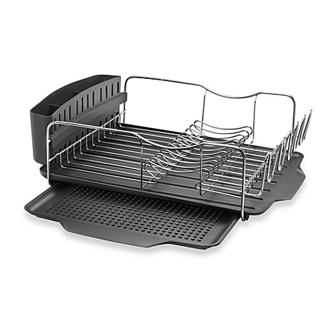 buy stainless dish rack from bed bath beyond