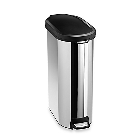 simplehuman® 45-Liter Slim Trim Ring Step Trash Can