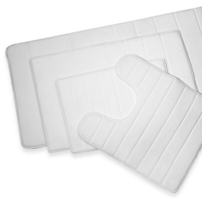 Microdry® Ultimate Luxury Memory Foam 17-Inch x 24-Inch Bath Mat - White