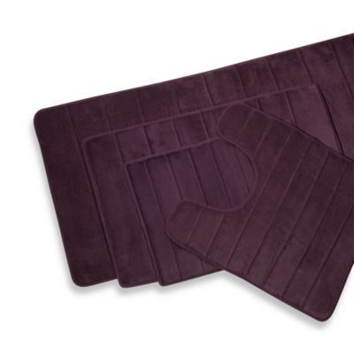 Microdry® Ultimate Luxury Memory Foam 17-Inch x 24-Inch Bath Mat in Purple