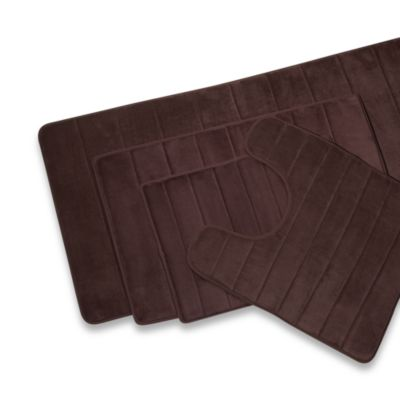 Microdry® Ultimate Luxury Memory Foam 17-Inch x 24-Inch Bath Mat - Chocolate