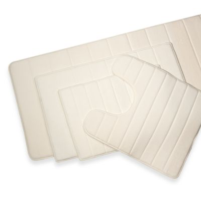 Microdry® Ultimate Luxury Memory Foam 17-Inch x 24-Inch Bath Mat - Ivory