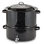 Graniteware 19-Quart Covered Seafood Steamer With Faucet