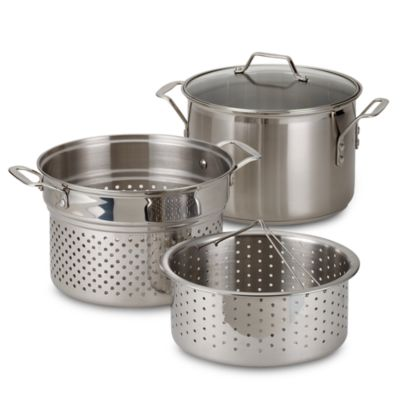 Calphalon® Stainless Steel 8-Quart Multi-Pot 4-Piece Set