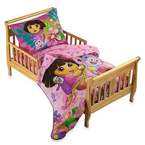 Dora The Explorer 4 Piece Toddler Bedding Set