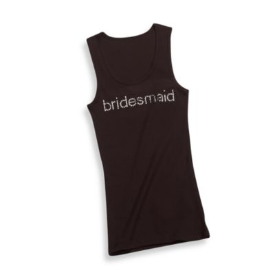 "Black ""Bridesmaid"" Extra Large Tank Top"
