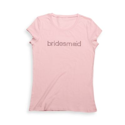 "Pink ""Bridesmaid"" T-Shirt"