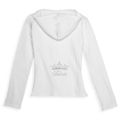 """Bride"" Crown Hoodie Sweatshirt in White"