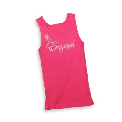 """Engaged' Tank Top Extra Large in Raspberry"