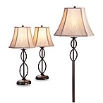 3-Pieceinfinity Lamp Set with CFL Bulbs