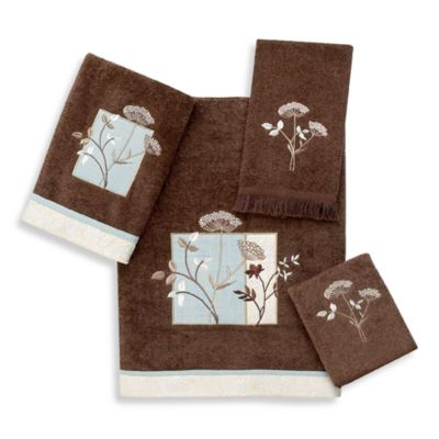 Avanti Queen Anne Washcloth in Mocha