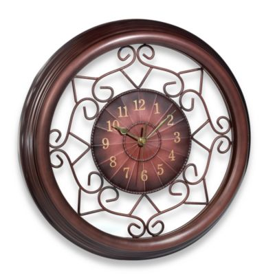 Wrought Iron Scroll 15.3'' Wall Clock