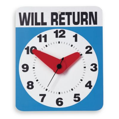 Kikkerland® Will Return Wall Clock
