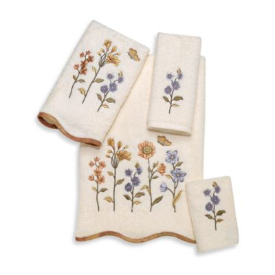 Premier Washcloth in Country Floral Ivory
