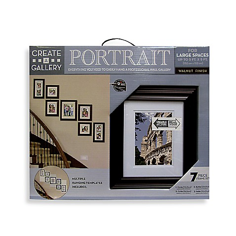 Create-a-Gallery Portrait 7-Piece Wood Frame Set in Walnut