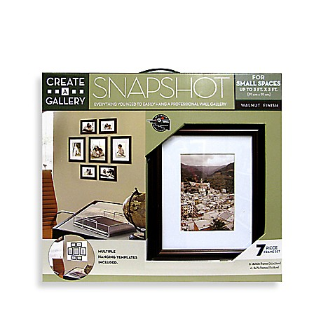 Create-a-Gallery Snapshot 7-Piece Frame Set in Walnut