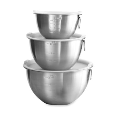 3-Piece Stainless Steel Mixing Bowl Set