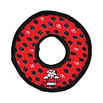 Ultimate Tuffy Ring Dog Toy in Red Paw