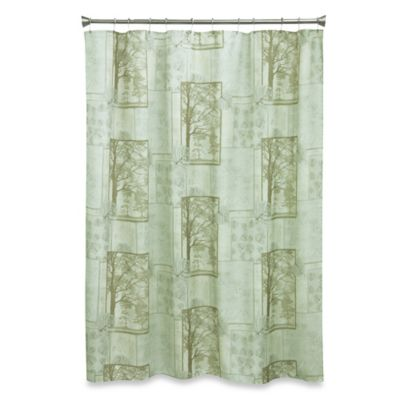 72-Inch Green Fabric Shower Curtain
