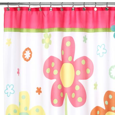Dancing Flowers 70-Inch W x 71-Inch L Shower Curtain