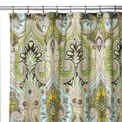 Echo Design™ Majolica 54-Inch x 78-Inch Fabric Stall Shower Curtain