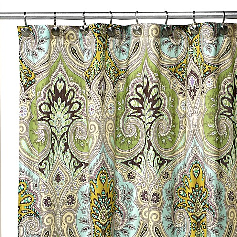 Echo Design™ Majolica Fabric Shower Curtain