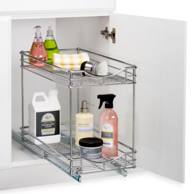 Lynk 14-Inch Roll-Out Under-Sink Double Drawers