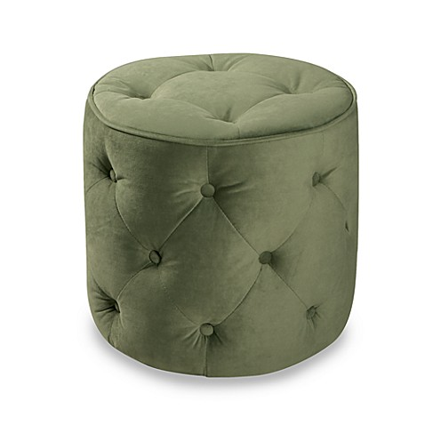Avenue Six Curves Round Ottoman - Purple