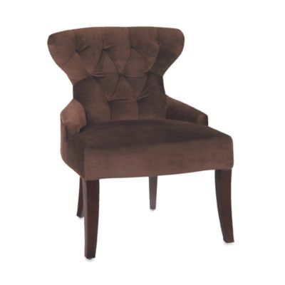 Avenue Six Hour Glass Curves Chair in Chocolate