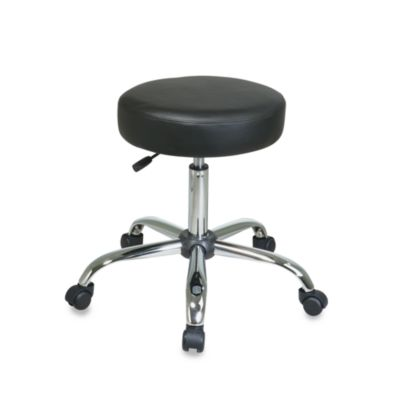 Pneumatic Drafting Backless Black Vinyl Stool