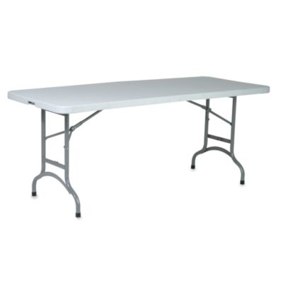 Multi-Purpose Center-Fold 6-Foot Resin Table