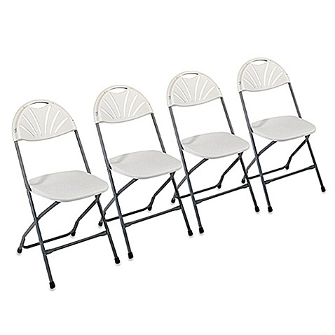 Plastic Folding Chairs (Set of 4)
